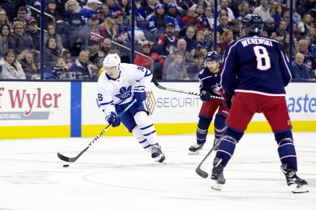 The Columbus Blue Jackets looked a Mitch Marner offer sheet, but term was one of the issues they had.