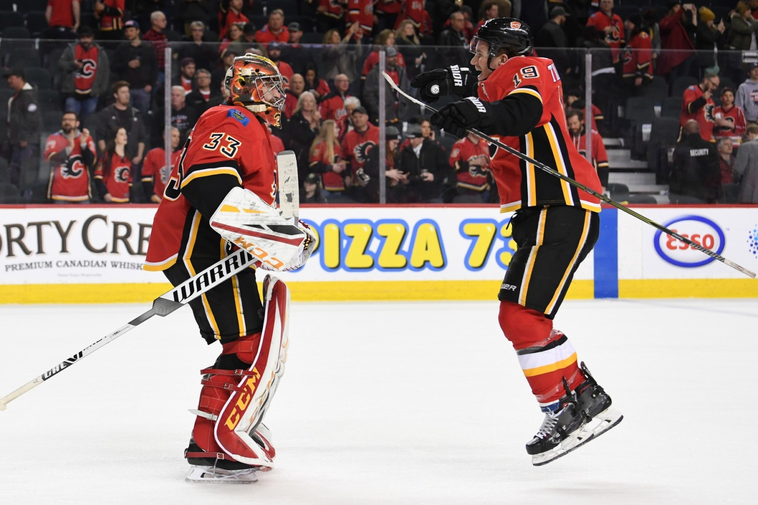 The Calgary Flames now turning focus internally to their RFAs like Matthew Tkachuk and David Rittich