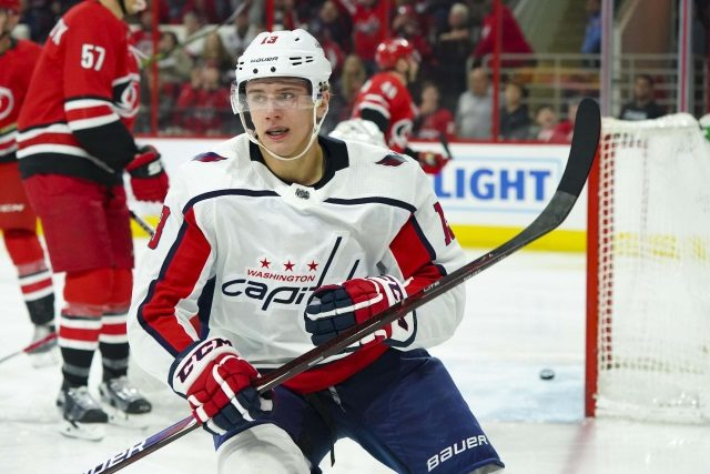 The Washington Capitals have signed Jakub Vrana to a two-year deal.