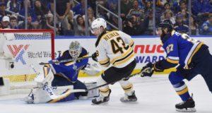 The Boston Bruins have re-signed Danton Heinen