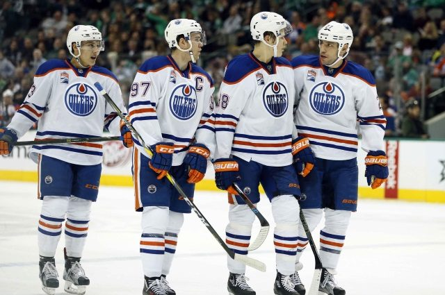 The Oilers would like add some scoring but they don't have a lot of salary cap room.