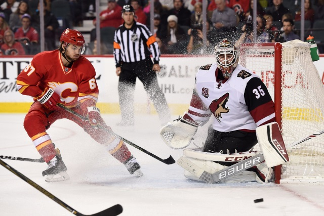 The Calgary Flames still need to create some cap space, could look to move Michael Frolik. The Tampa Bay Lightning looking to trade goaltender Loui Domingue.