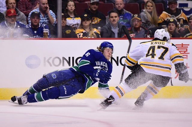 buy online 0e095 64e7d NHL Rumors: Loui Eriksson, Brock Boeser, and Torey Krug ...