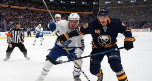 Jake Gardiner would help the Buffalo Sabres but they currently can't fit his salary in. Asking price for Rasmus Ristolainen remains high.