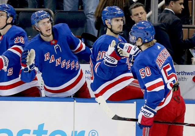 Looking at four New York Rangers prospects that might be able to crack the Rangers roster at some point this season.