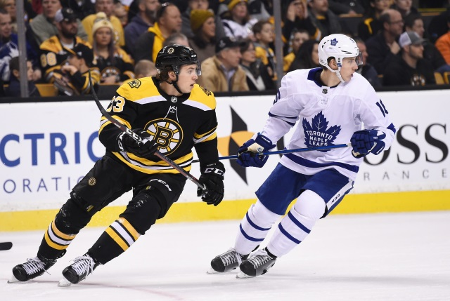 Are the Toronto Maple Leafs and Mitch Marner closing in on a bridge deal? The Boston Bruins and Charlie McAvoy are set to resume contract talks.