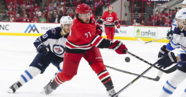 Justin Faulk trying to approach things as if he won't be traded. Winnipeg Jets trade rumors will involve Faulk and Rasmus Ristolainen.