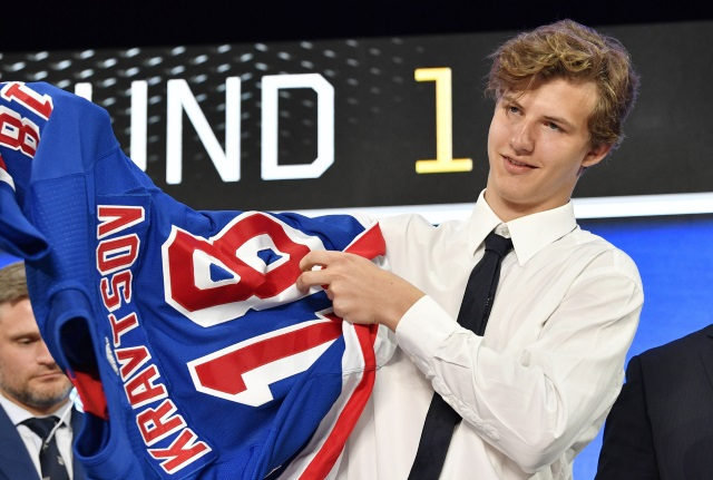 Vitali Kravtsov makes the jump to North America this year and will be one of the top NH: prospects at the Traverse City Rookie Tournament.