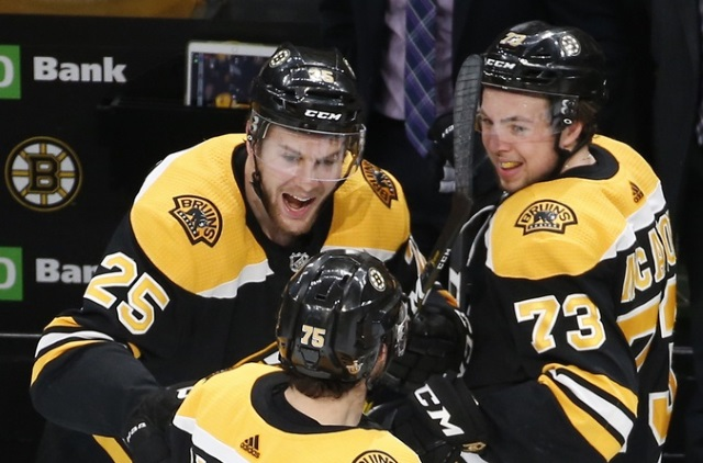 Boston's three defensemen -- Charlie McAvoy, Torey Krug, and Brandon Carlo are the subjects of this edition of NHL Trade Rumors.