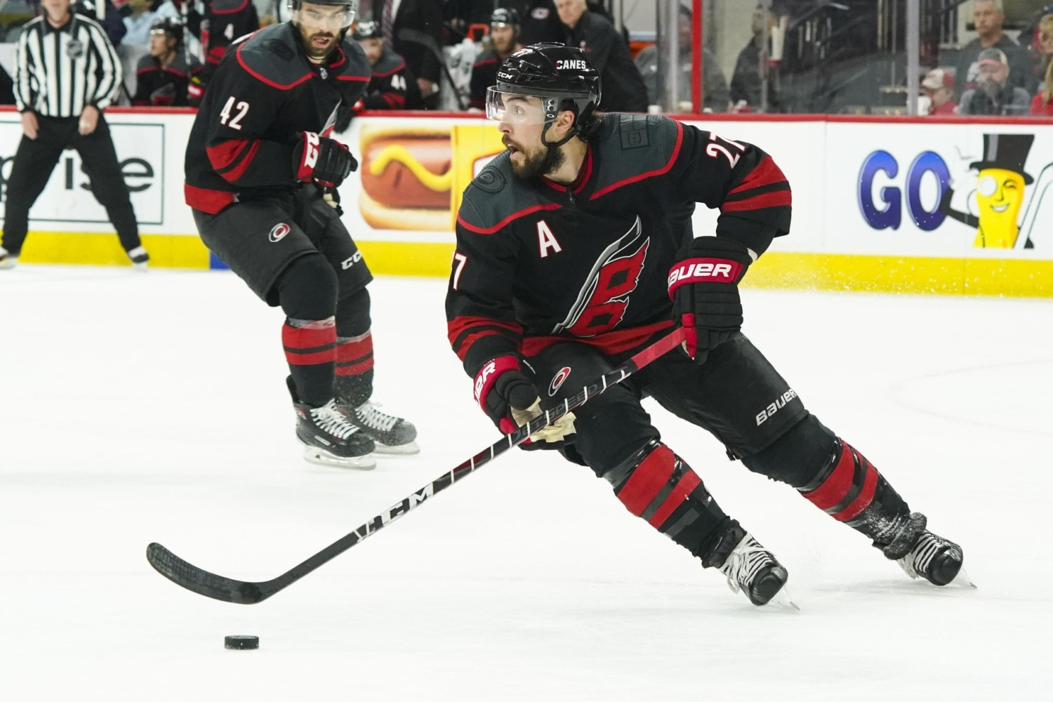 Carolina Hurricanes defenseman Justin Faulk