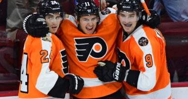 The Philadelphia Flyers are talking to RFAs Ivan Provorov and Travis Konecny