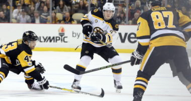 The Pittsburgh Penguins likely won't negotiate with some of their pending free agents in-season. No contract extension talks between the Boston Bruins and Torey Krug yet.