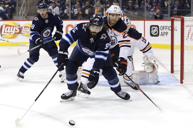Mathieu Perreault could be one potential trade option for the Edmonton Oilers