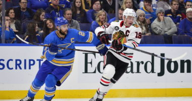 St. Louis Blues Alex Pietrangelo and Chicago Blackhawks Jonathan Toews