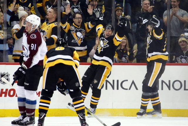Penguins Alex Galchenyuk and Patric Hornqvist are day-to-day.