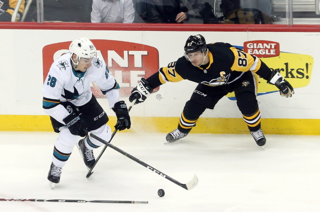 Sidney Crosby is good to go for their opener. Timo Meier and Kevin Labanc leave in the 3rd period.