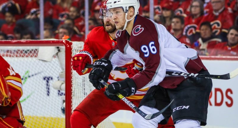 Colorado Avalanche forward Mikko Rantanen left last night's game early with a lower-body injury.