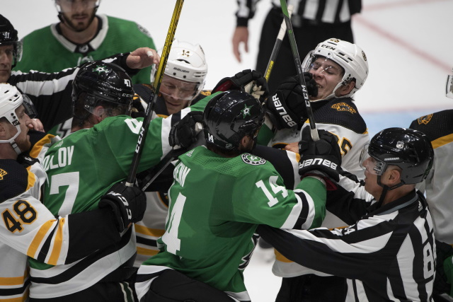 The Dallas Stars will be patient. The Boston Bruins could use some help at right wing.