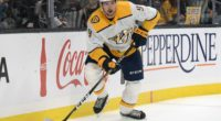 Nashville Predators forward Filip Forsberg being evaluated