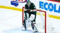 Minnesota Wild goaltender Devan Dubnyk left in the second period last night.