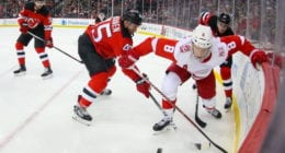 Sami Vatanen missed his second consecutive game. Justin Abdelkader to the IR.