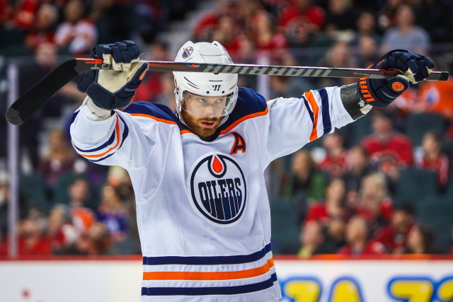 Adam Larsson could be less than two weeks away from returning the Oilers lineup.