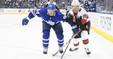 Things haven't gone as planned so far for Tyson Barrie and Maple Leafs. Jean-Gabriel Pageau is having a tremendous contract season for the Senators. Does it make sense for either team to move those players?