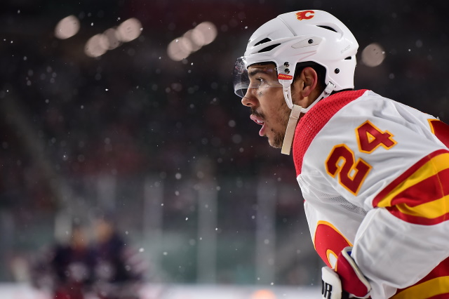 Calgary Flames defenseman Travis Hamonic is one of 15 players on TSN's first NHL trade bait board of the season.
