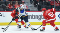 The St. Louis Blues have traded forward Robby Fabbri to the Detroit Red Wings for forward Jacob de la Rose.