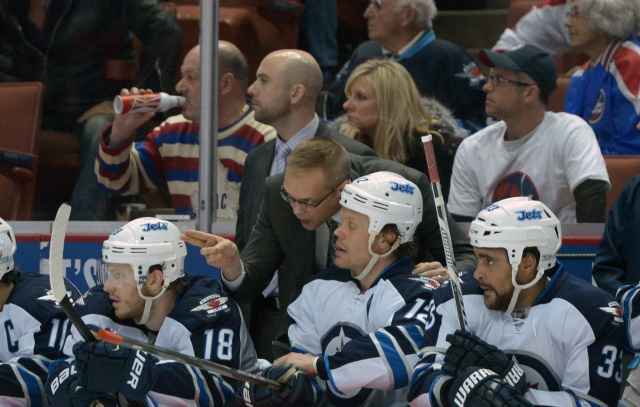 Winnipeg Jets coach Paul Maurice is without a contract next season. Jets could have used Dustin Byfuglien or his salary cap space.