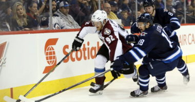 Nathan MacKinnon pulled as a precaution. Bryan Little suffered a perforated ear drum but was released from the hospital.