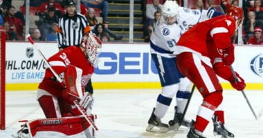 Steven Stamkos' plan is return in the next two games. Jimmy Howard leaves with a mid-body injury.