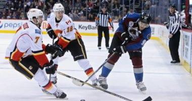 Flames issues statement on T.J. Brodie. Gabriel Landeskog hasn't resumed skating yet.