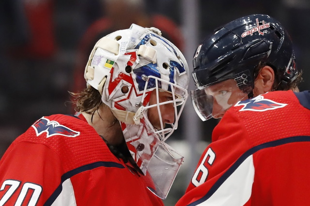The Washington Capitals won't be talking extension with Braden Holtby during the season. Term sticking point for Nicklas Backstrom and the Capitals.
