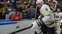 A report has Buffalo Sabres defenseman Zach Bogosian asking for a trade