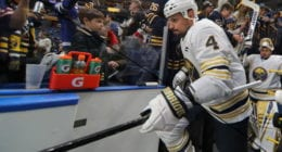 A report has Buffalo Sabres defenseman Zach Bogosian asking for a trade