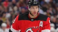 The New Jersey Devils held Taylor Hall out for precautionary reasons