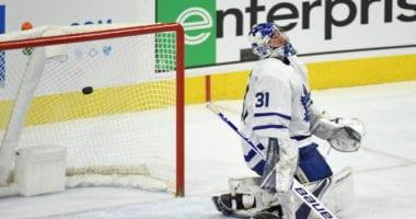Toronto Maple Leafs goaltender Frederik Andersen