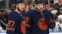 Edmonton Oilers Connor McDavid and Leon Draisaitl