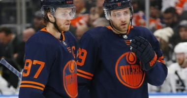 Edmonton Oilers Connor McDavid and Leon Draisaitl