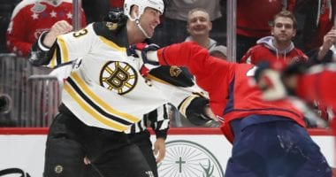 Zdeno Chara will miss at least one game.