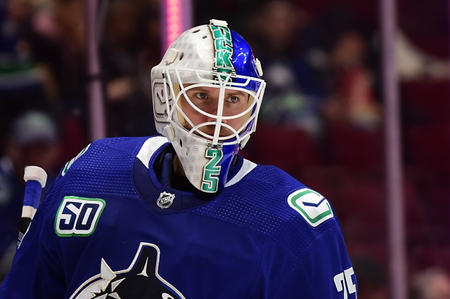 Vancouver Canucks goaltender Jacob Markstrom