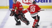 The Chicago Blackhawks haven't ruled out a Corey Crawford - Robin Lehner tandem next season.