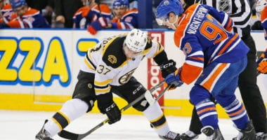 Patrice Bergeron expected to skate today. Ryan Nugent-Hopkins may not be far off.