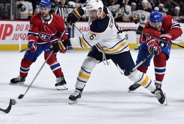 Buffalo Sabres trade Marco Scandella to the Montreal Canadiens. The Calgary Flames trade Michael Frolik to the Buffalo Sabres.