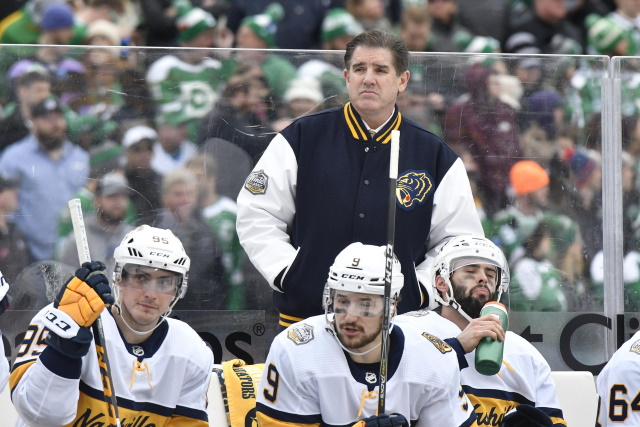 The Nashville Predators have fired head coach Peter Laviolette and assistant coach Kevin McCarthy.
