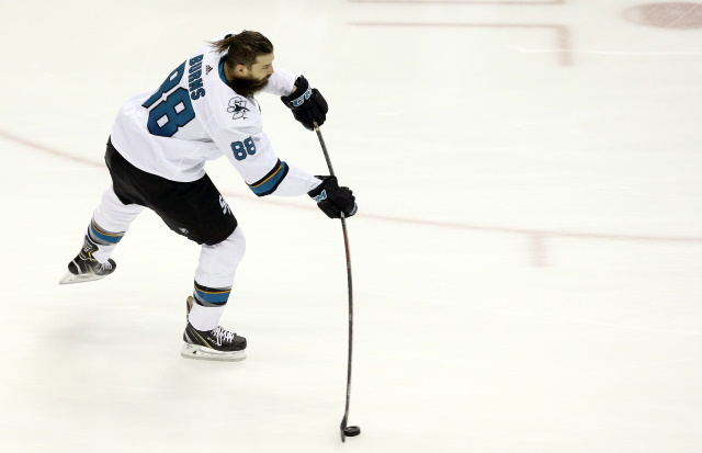 Brent Burns is dealing with an upper-body issue.