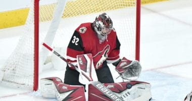 Antti Raanta pulled himself from yesterday's game.