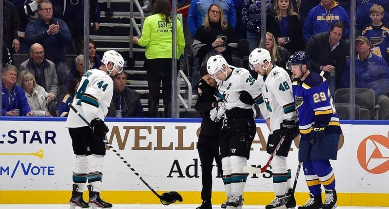 San Jose Sharks Logan Couture could be out for six weeks.