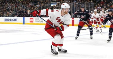 Dougie Hamilton could be out with a serious leg injury.